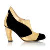 See Black Ankle Boot Gold