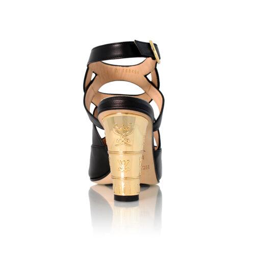 See Gold Heel Sandal