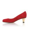 See Red Pump Gold Kitten Heel