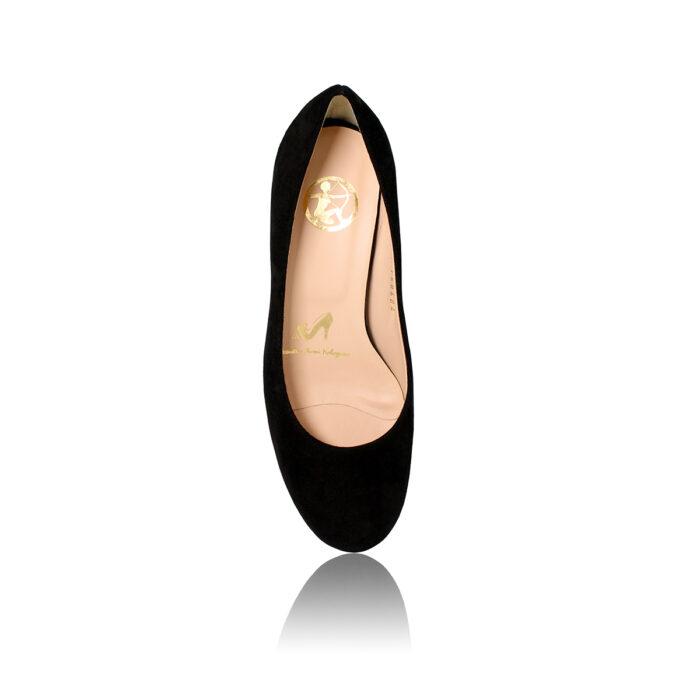See Black Pump Kitten Heel
