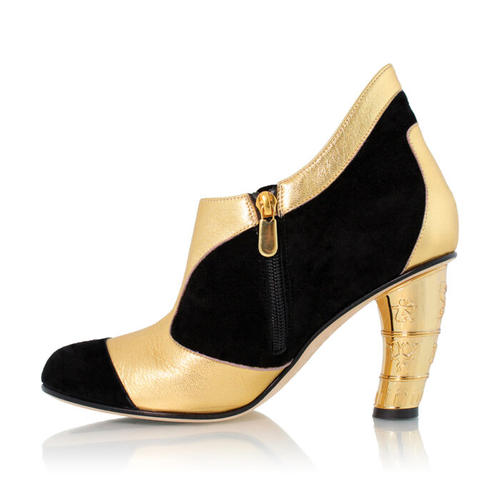 See Black and Gold Boot