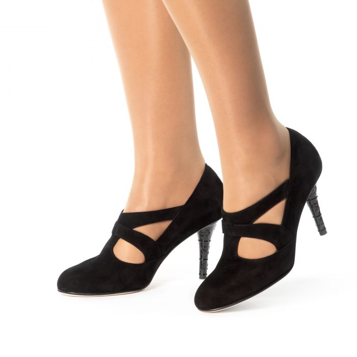 See Black Suede Pumps