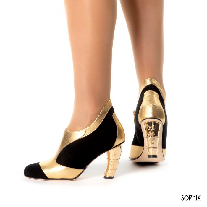 Purchase Boot Black And Gold