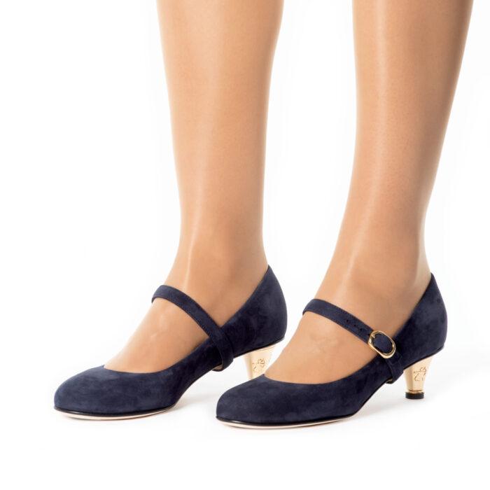 See Darkblue Kitten-heels