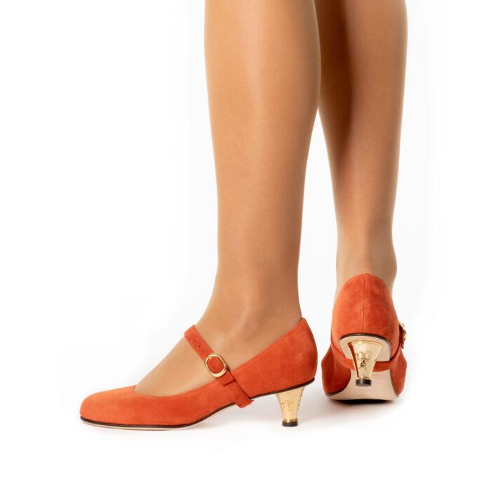 Buy Burned Siena Low Heel Shoes