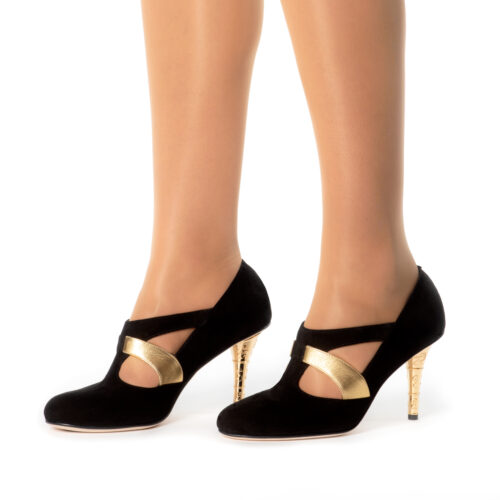 Buy Pumps Black and Gold
