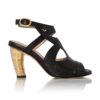 Køb Sort Sandal Med Guld Hael