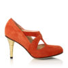 Buy Burned Siena Pump Gold Heel